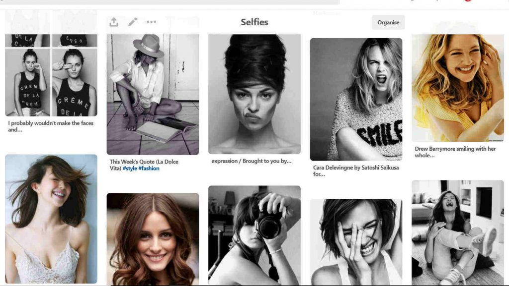 Creating A Pinterest Selfie Board | Onwards and Up