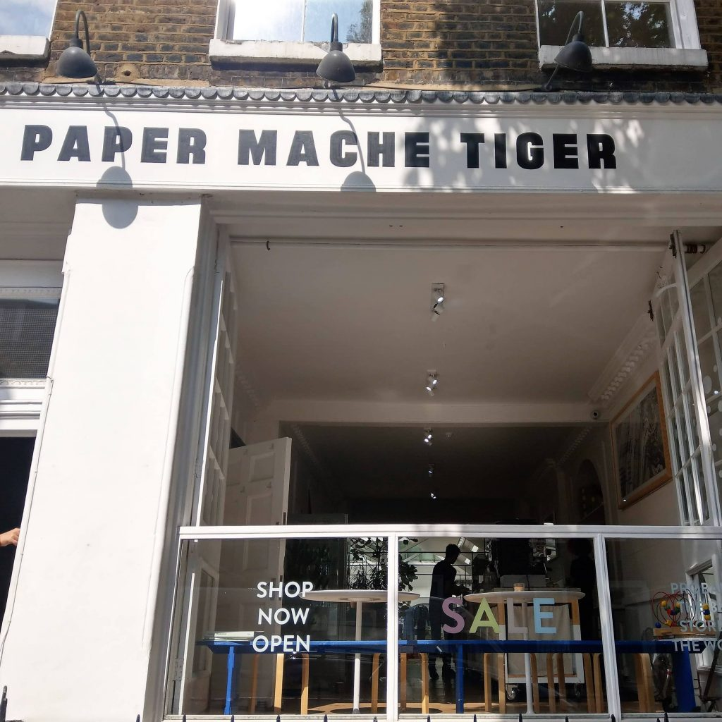 Paper Mache Tiger Showroom | Onwards and Up
