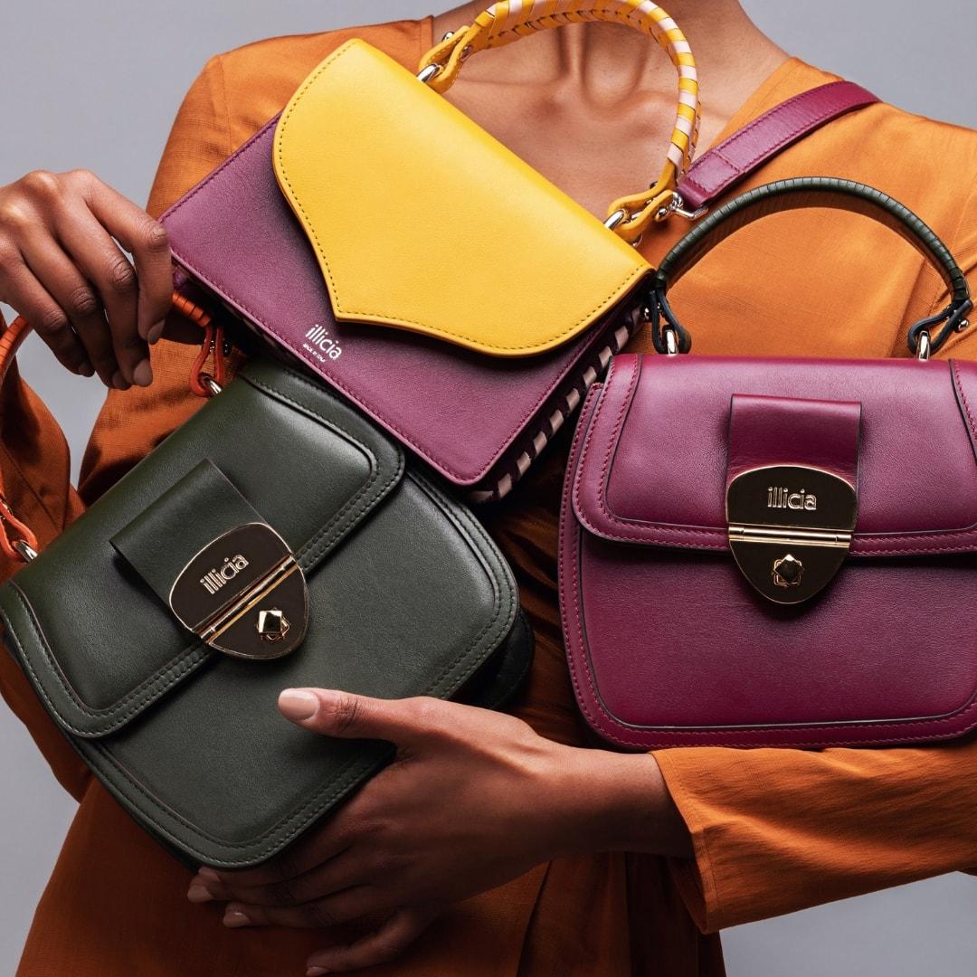 Illicia Luxury Leather Handbags   Onwards and Up