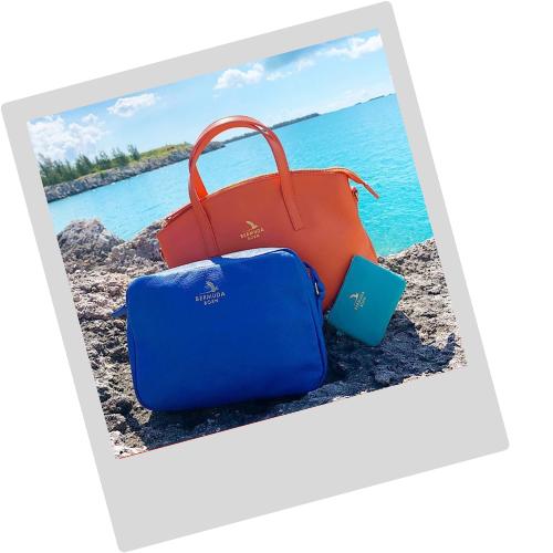 Bermuda Born Handbag polaroid | Onwards and Up