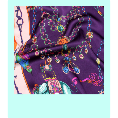 Dalliance and Noble Silk scarf polaroid | Onwards and Up