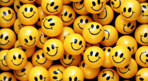 Yellow smiley happy faces | Onwards and Up